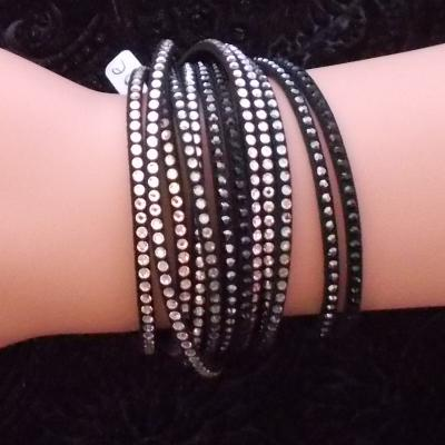 "Bracelet ""Claire"" crystal silver night/crystal"