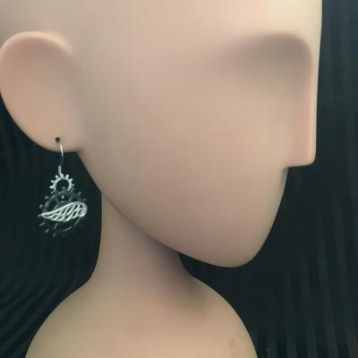 "Boucles d'oreilles ""Wing N'gears"""